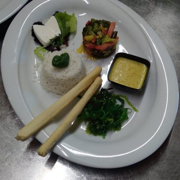 Vegetarian Malga Giau second course